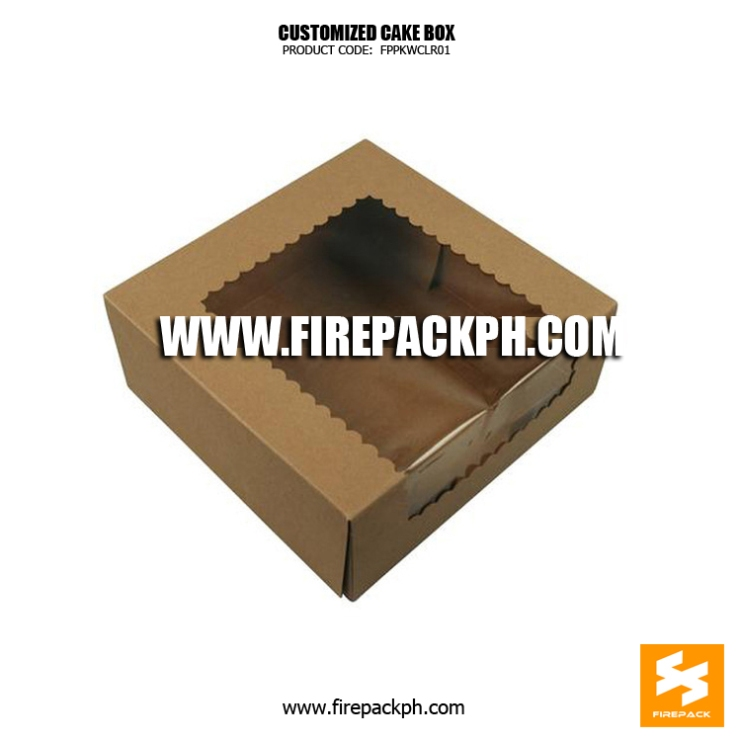 kraft paper bag with window bacolod supplier