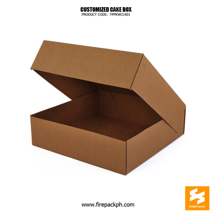 kraft paper box for cake supplier manila