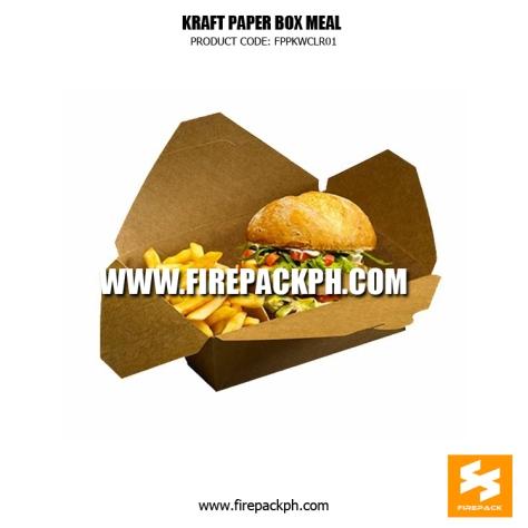 kraft paper box meal supplier manila japan dubai