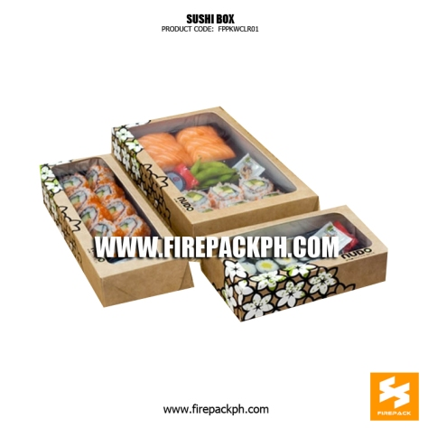 kraft paper box sushi box supplier manila