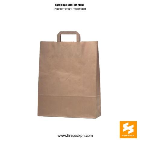 kraft paper brown bag for shopping firepack