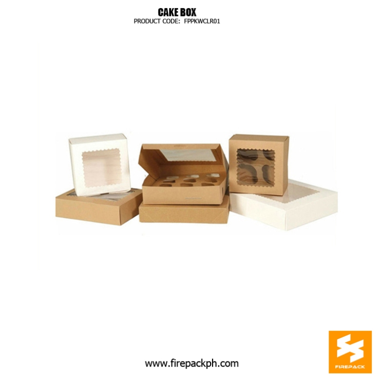 kraft paper cake box customized manila supplier