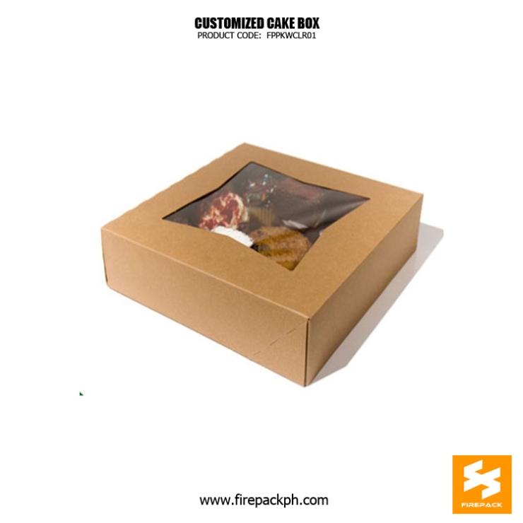 kraft paper cake box supplier manila firepack