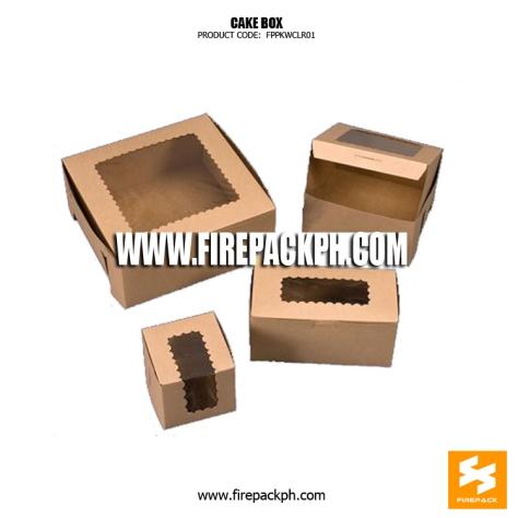 kraft paper cake box with window supplier manila