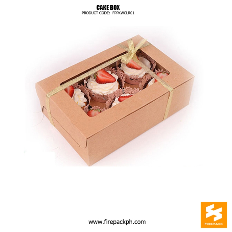 kraft paper cake box with window supplier