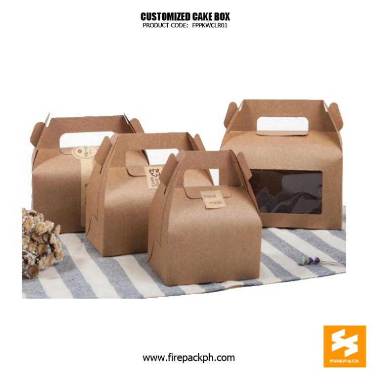kraft paper gable box for cake supplier manila