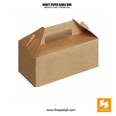 kraft paper gable box supplier firepack