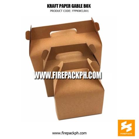kraft paper gable box supplier
