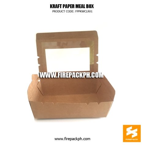 kraft paper meal box supplier
