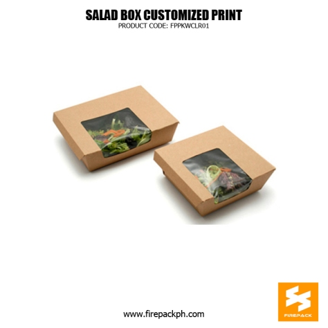 kraft paper meal box with window supplier manila
