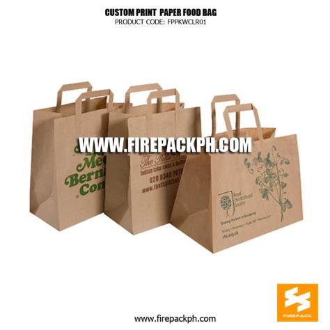 kraft paper shopping bag custom printed supplier
