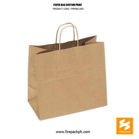 kraft paper shopping bag customized print supplier manila