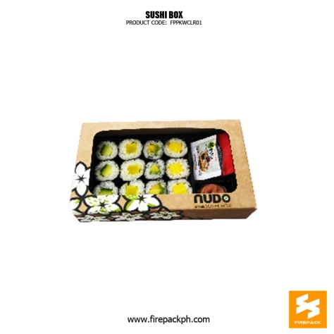 kraft paper with window sushi box supplier