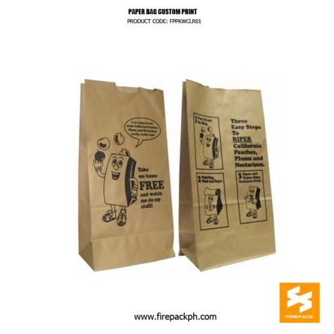 kraft papg bag supplier manila with customized print