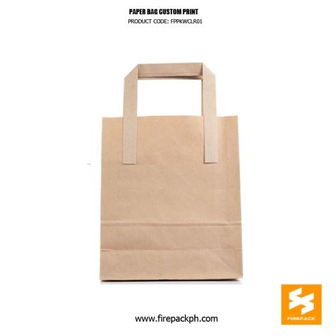 kraft papg bag with handle supplier manila