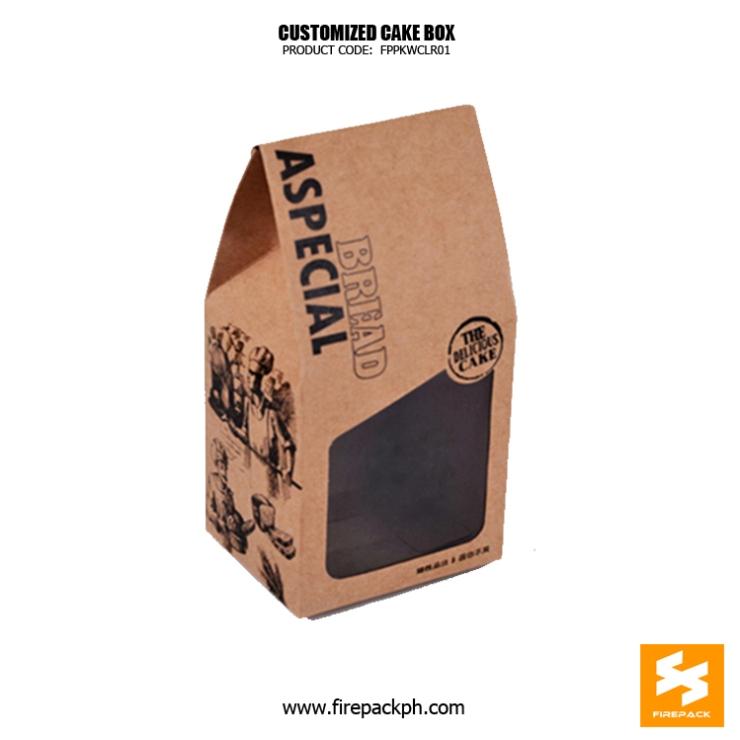 krat paper bag with window supplier maker manila