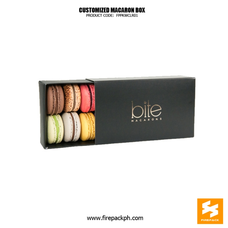 macaron box design black color supplier manila