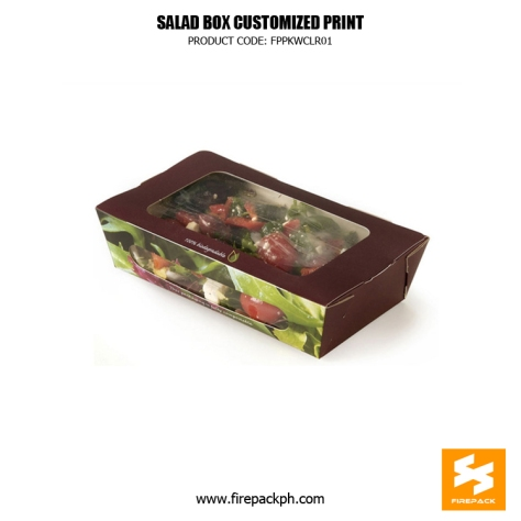 meal box with window customized print supplier manila