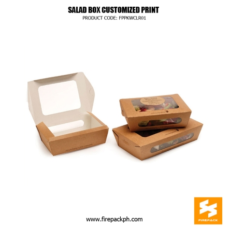 meal box with window manila supplier customized printing