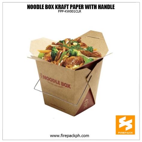 noodle box brown kraft paper customized printing firepack supplier manila supplier japan