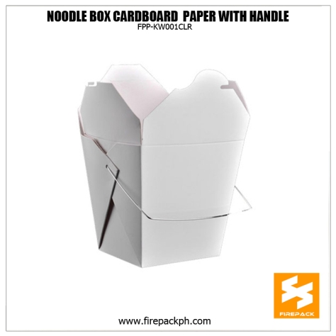 noodle box brown kraft paper customized printing PE coated firepack supplier manila supplier apan