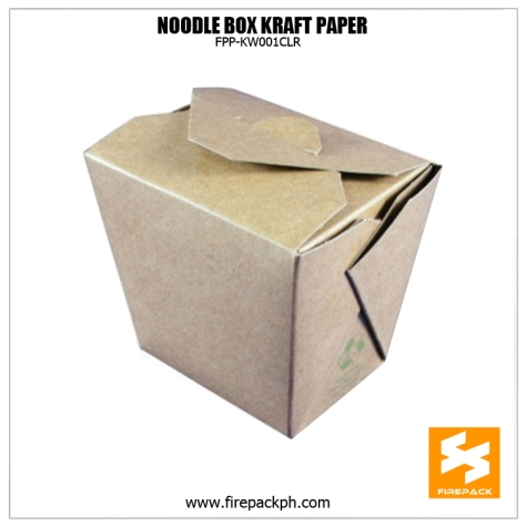 noodle box brown kraft paper firepack supplier manila small minimum supplier maker