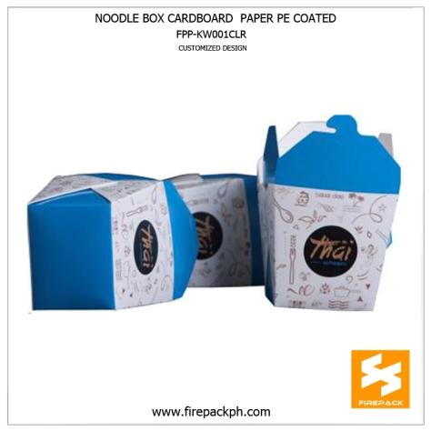noodle box customized printing PE coated brown kraft paper firepack supplier manila firepack