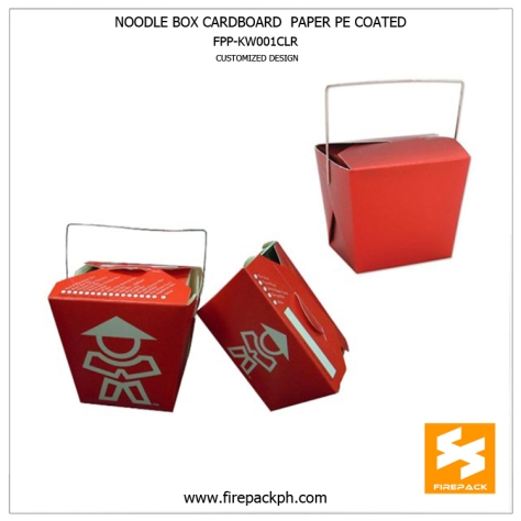 noodle box take away customized printing PE coated brown kraft paper firepack supplier davao USA supplier