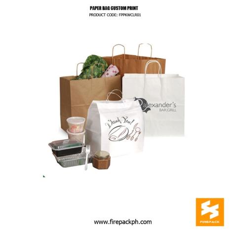 paper bag custom print supplier