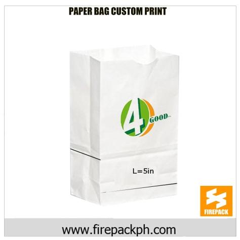 paper bag customized logo printing firepack