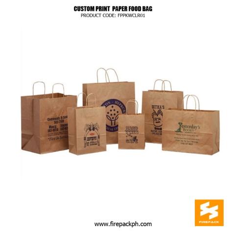 paper bag customized printing manila