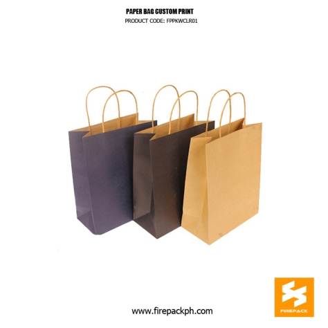 paper bag supplier with print firepack packaging