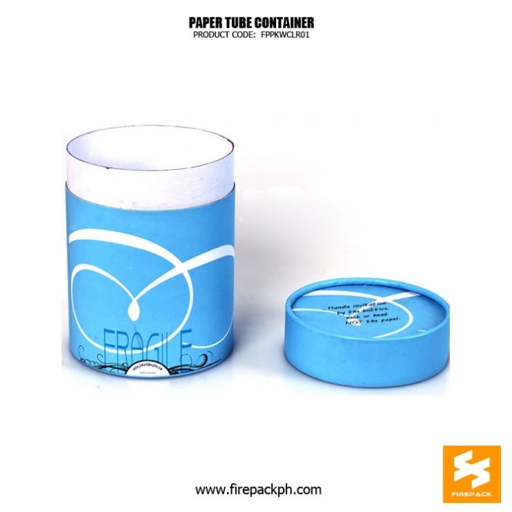 paper tube blue color supplier manufacturer