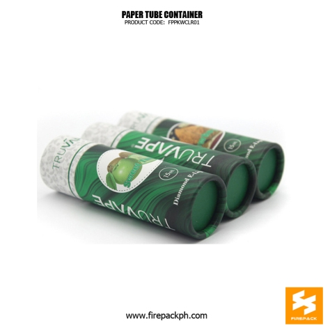 paper tube container green color supplier manila