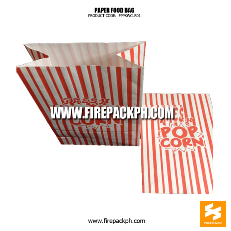 popcorn paper bag customized maker supplier manila