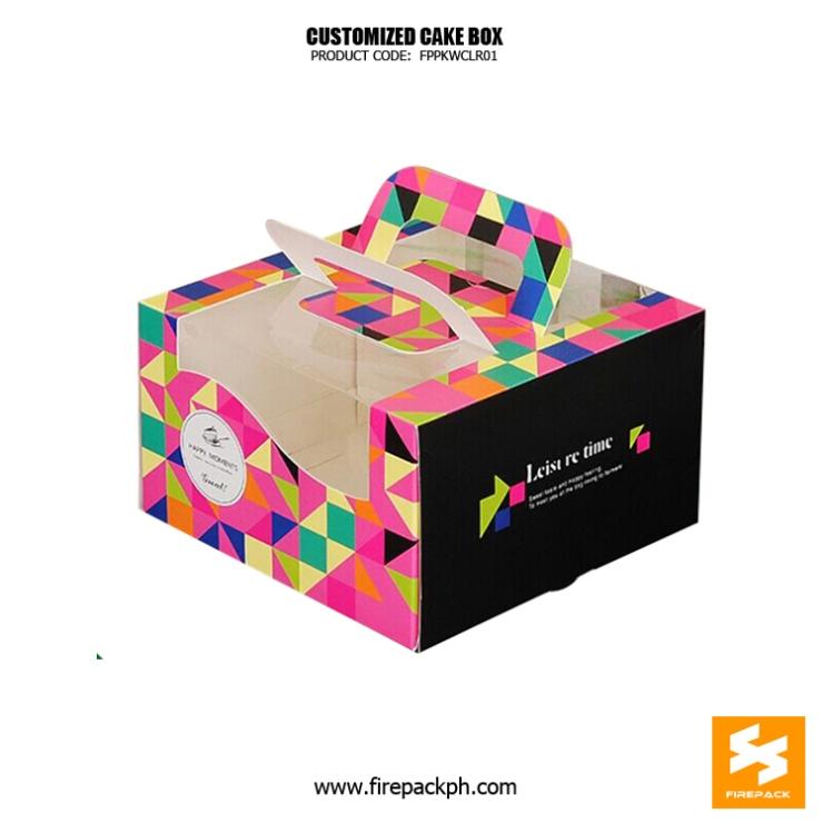 quality cake box maker customized cebu supplier
