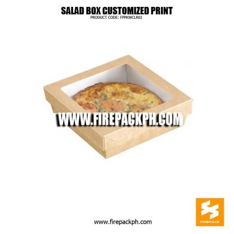 salad box paper box meal with window supplier manila londor supplier