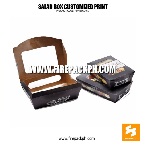 salad box paper box meal with window supplier manila