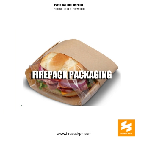sandwhich bag food bag paper bag with window supplier manila
