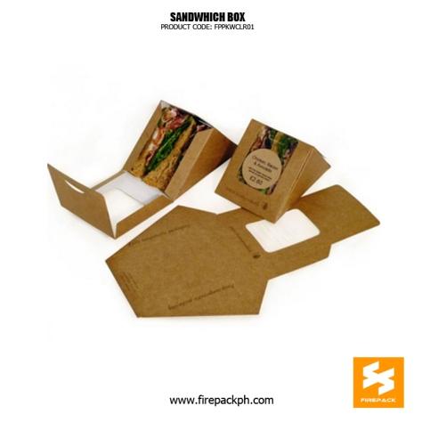 sandwhich box with window supplier manila