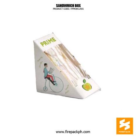 sanwhich box with window triangle form supplier manila
