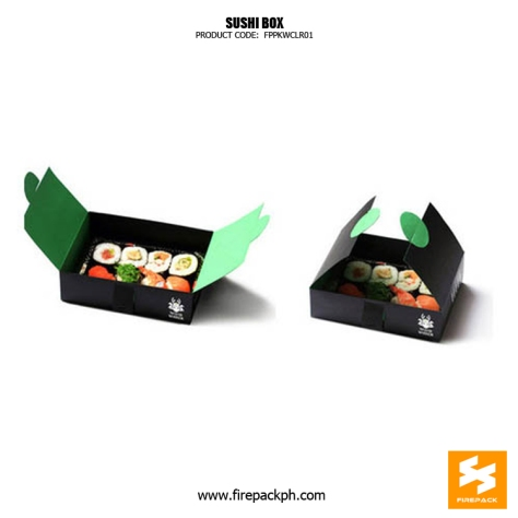 sushi box custom designer manilla supplier