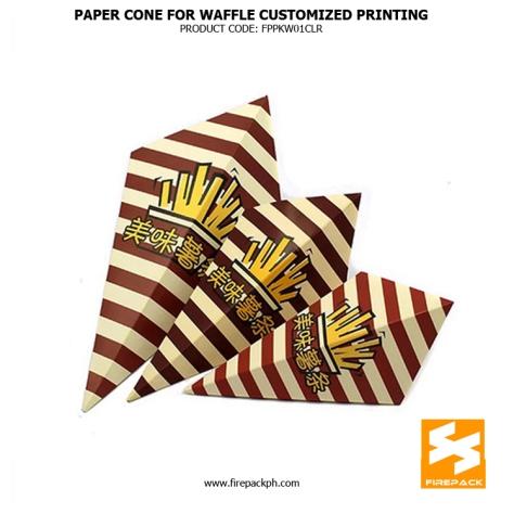 waffle cone standard size maker manila