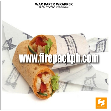 wax paper supplier customized printing supplier manila firepack cebu supplier