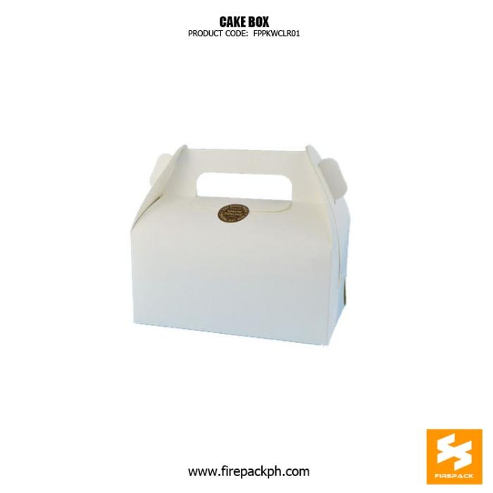 white gable box supplier cake take away box