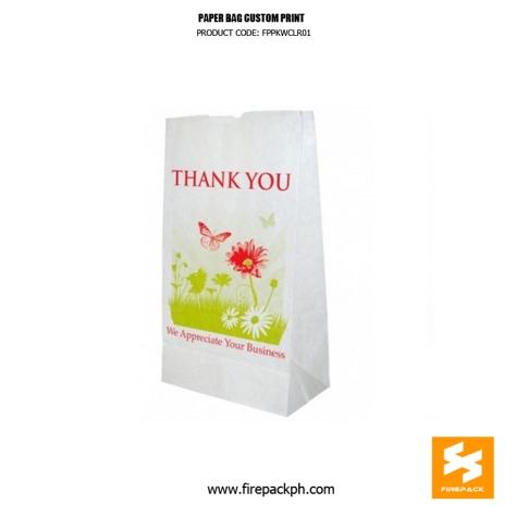 white paper bag custom printing supplier manila