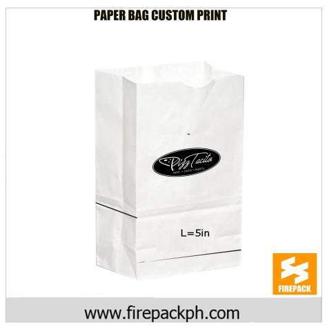 white paper bag firepack