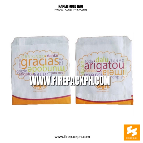 white paper bag for french fries customized supplier manila