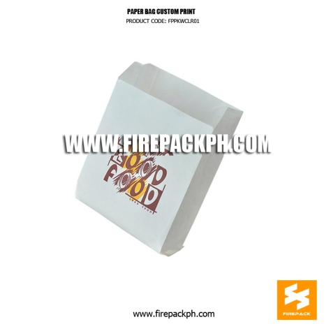 white paper bag for sanwhich custom print supplier