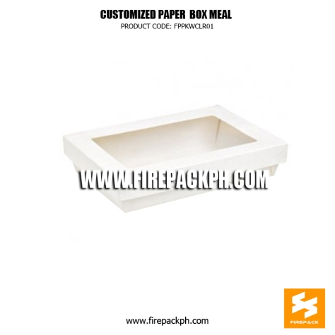 white paper box meal with window supplier manila